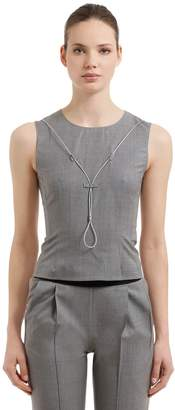 Alyx Sleeveless Wool Top W/ Metal Wire