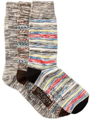 Sperry Oasis Weave Crew Socks - Pack of 3