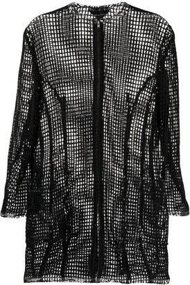 Comme des Garcons Pre-Owned netted longline jacket
