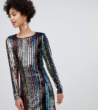 dd6cf995f052 Stradivarius short rainbow sequin dress