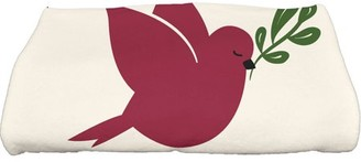 "E By Design Simply Daisy 28"" x 58"" Noel Bird Animal Print Bath Towel"