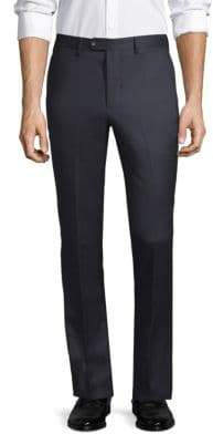 Officine Generale Paul Straight-Fit Flannel Wool Pants