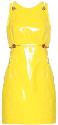 Versace Embellished PVC minidress