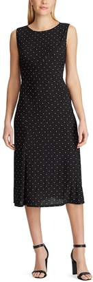 Chaps Women's Dot Panel Midi Dress