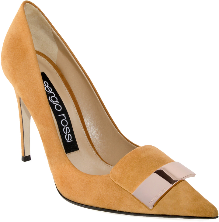 Sergio Rossi SR1 Suede Placked Pump