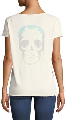 Zadig & Voltaire Tunisien Skull-Back Short-Sleeve Henley Top