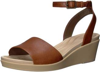 c323b58284d at Amazon Canada · Crocs Women s Leighann Anklestrap Lthr Wedge Sandal