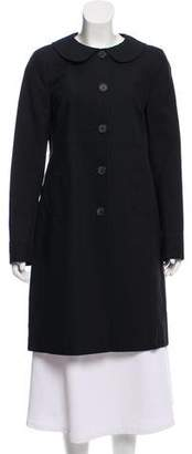 Burberry Peter Pan Collar Knee-Length Coat