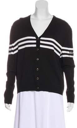 St. John Sport Varsity Knit Cardigan