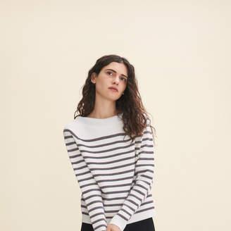 Maje Wool blend Breton jumper