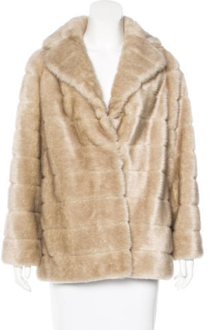 Kate Spade Kate Spade New York Faux Fur Short Coat