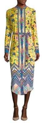 Saloni Molly Silk Shirt Dress