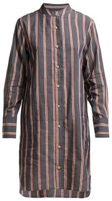 Etoile Isabel Marant Yucca Striped Shirtdress - Womens - Black Multi