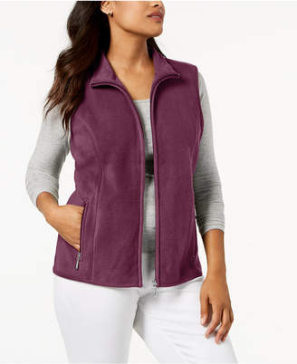 Karen Scott Petite Zeroproof Zipper Vest
