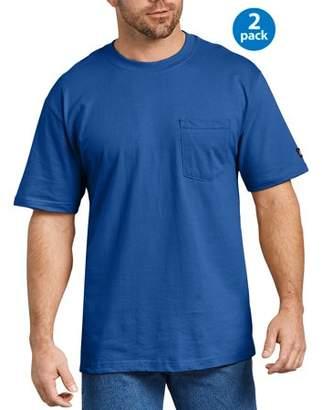 Dickies Genuine Big Men's Short Sleeve Heavy Weight Pocket T-Shirt, 2-Pack