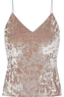 Alice + Olivia Delray Crushed-Velvet Camisole