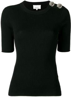 3.1 Phillip Lim button detail knitted top