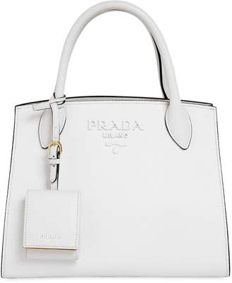 At Luisaviaroma Prada Small Monochrome Saffiano Leather Bag