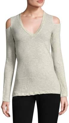 Monrow Women's Cold-Shoulder Top