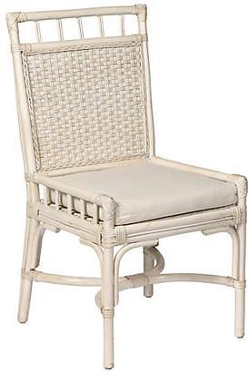 One Kings Lane Rattan Desk Chair - White