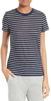 Women's Atm Anthony Thomas Melillo School Boy Stripe Linen Tee $155 thestylecure.com