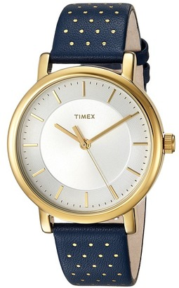 Timex - Originals Leather Strap Watches $55 thestylecure.com