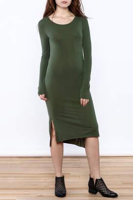 Double Zero Olive Midi Dress