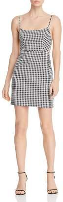 Fame & Partners Plaid Cross-Strap-Back Mini Dress
