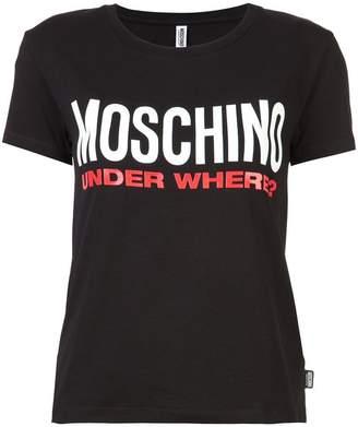 Moschino 'under where' T-shirt