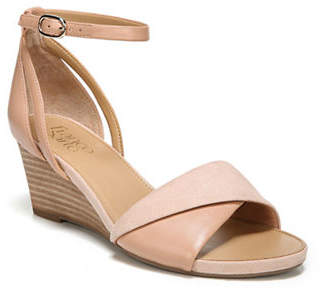 Franco Sarto Deirdra Wedge Leather Sandals