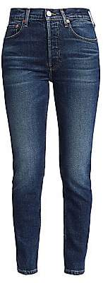 RE/DONE Women's Comfort-Stretch High-Rise Ankle Skinny Jeans