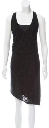 Helmut Lang Suede Bodycon Dress