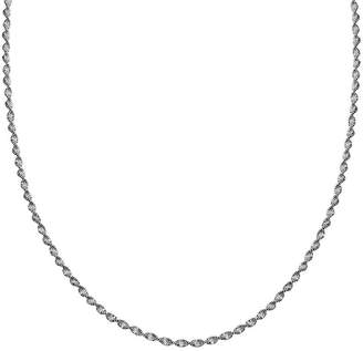 STERLING SILVER CHAINS Silver Reflections Sterling Silver Butterfly Twist 16 Chain Necklace