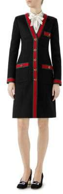Gucci Long Sleeve Stripe Detail Coat