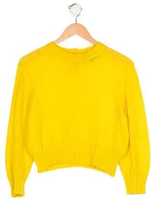 Junior Gaultier Girls' Rib Knit Long Sleeve Sweater