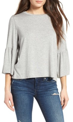 Women's Leith Ruffle Sleeve Blouse $45 thestylecure.com