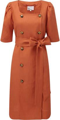 Lisa Marie Fernandez Diana Belted Double-Breasted Linen Dress