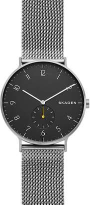 Skagen Aaren Mesh Strap Watch, 40mm