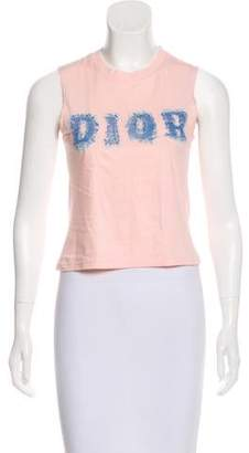 Christian Dior Printed Sleeveless Top