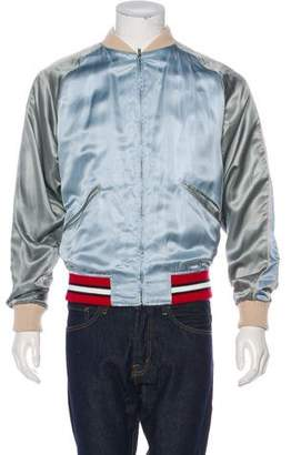 Gucci Silk-Blend Satin Reversible Bomber Jacket