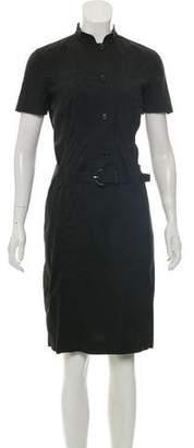 Prada Button Up Belted Dress