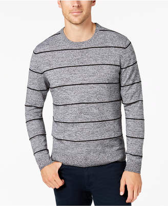 Alfani Men's Striped Crew-Neck Sweater, Created for Macy's