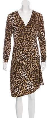 MICHAEL Michael Kors Animal Print Midi Dress