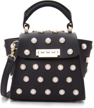 Zac Posen Eartha Imitation Pearl Top Handle Mini Cross Body Bag