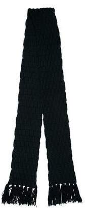 Dolce & Gabbana Heavy Knit Fringed Scarf