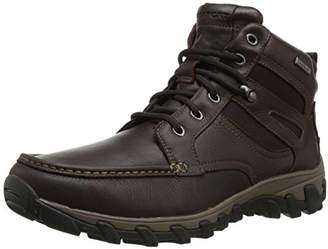 Rockport Men's Cold Springs Plus Mocc Toe Boot - High 7 Eyelets Dark Brown Tumbled Leather 14 M (D)-