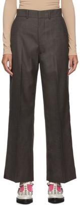 Junya Watanabe Grey Wool Sharkskin Trousers