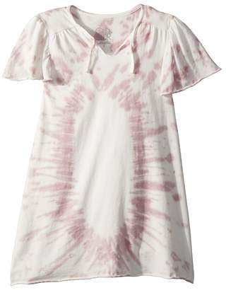 Chaser Kids Super Soft Flouncy Sleeve Easy Shirtdress Girl's Dress
