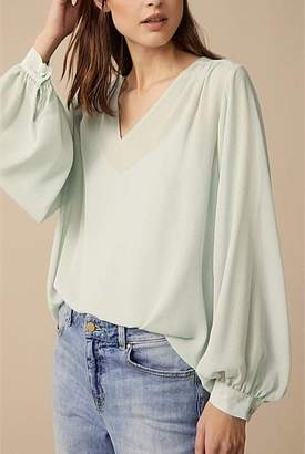Witchery Texture Peasant Blouse