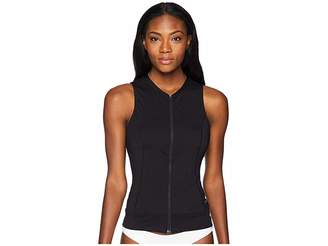 Speedo Zip Front Tankini Top